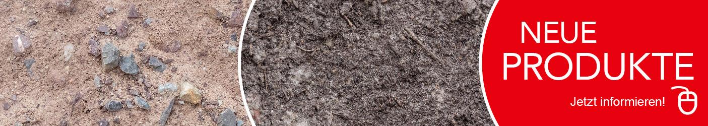 Neue Produkte bei Bückwitzer Erdbau & GaLaBau GmbH - Frostschutzmaterial B1 und Kompostboden.