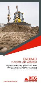 Titelseite vom Flyer Erdbau.