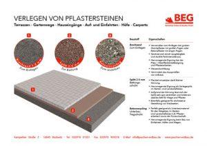 Der Flyer, GaLaBau – Infoblatt Pflaster verlegen.
