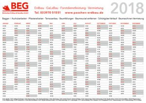 Der Kalender 2018 – DIN A4.